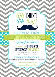oh baby oh boy with mustache baby shower invitations and free