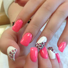 my pretty nailz pink and white zebra print konad nail art nail