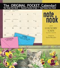 well street by lang country cats 2018 note nook pocket calendar