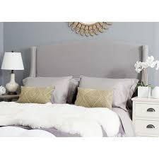 safavieh austin light grey cotton blend upholstered wingback