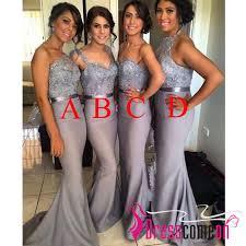 grey bridesmaid dresses modest v neck silver grey bridesmaid dress gray cheap