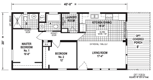 Floor Plans For Mobile Homes Double Wide Oak Grove 20 X 40 800 Sqft Mobile Home Factory Expo Home Centers