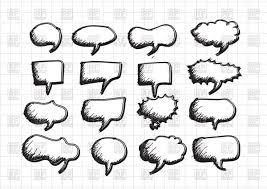 speech bubble sketch vector clipart image 69778 u2013 rfclipart