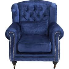 charlie wing chair blue the one furniture dubai affordable