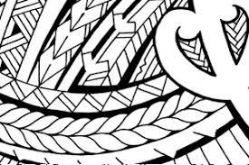samoan chest tattoo design with maori patterns