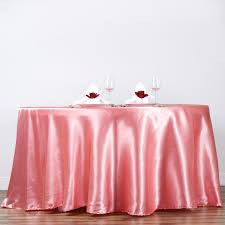 pink round table covers decor tips lovely round pink satin table cloths for charming