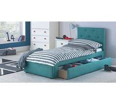 buy home hearts single bed frame white at argos co uk visit