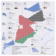 Jordan World Map by Dot And Flag Map Of Hashemite Kingdom Of Jordan Infographic