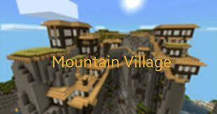Mpce Maps Awesome Mountain Village Steampunk Style Mcpe Maps Minecraft