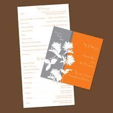 Wedding Program Printing Printing Wedding Programs Printable Wedding Program The Bailey