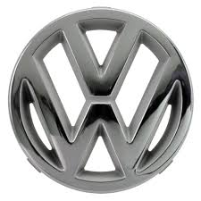 volkswagen logo black and white front vw emblem chrome 125mm 251853601 251 853 601 volkswagen