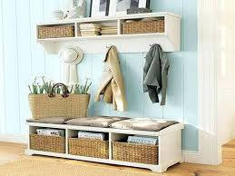 entry way storage table entryway storage bench with coat rack uk
