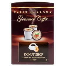 caffe de aroma donut blend coffee single serve cups 24 box