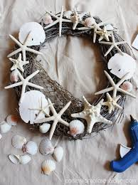 seashell wreath pottery barn inspired shell wreath confessions of a serial do it
