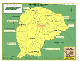 Tennessee Map With Counties by Fentress County Tennessee Century Farms