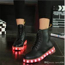 ladies light up shoes winter boots led shoes black light up shoes luminous unisex usb