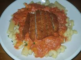 Five Cheese Marinara Sauce On Cavatappi Pasta With Chicken Meatballs - day 51 meal 123 super carb me
