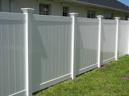 classic white vinyl privacy fence mossy oak fence company