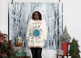 whoopi goldberg ugly christmas sweater line at zappos 2017
