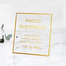 wedding guest book sign big gold foil sign acrylic wedding sign guest book glass sign