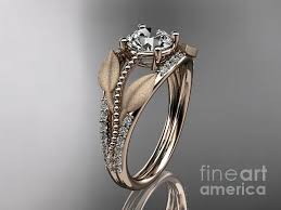 fine art rings images Rose gold diamond leaf and vine wedding ring engagement ring jpg