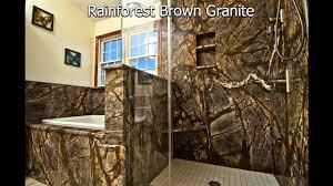 rainforest brown granite bathroom by granite grannies youtube