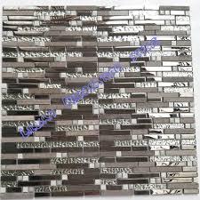 beige stone glass tiles kitchen backsplash tile gray marble silver