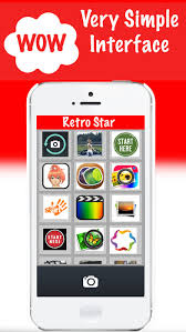 retro star photo editor vintage camera for painting sketch