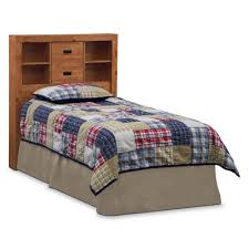 Country Style Headboards by Bedroom Country Style Twin Bed With Plaid Bedding Set Featuring