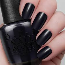 Black Paint Swatch Black Onyx Nail Lacquer Opi