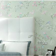 green wallpaper home decor decorative wallpaper for home feathers wall stencil decorative