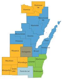 Northeast Map Northeast Wisconsin Region American Red Cross Wisconsin Region