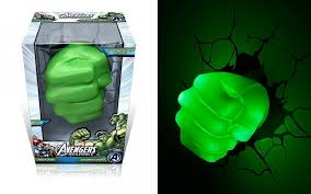 3d deco superhero wall lights awesome hulk fist 3d deco light that will blow a whole through your wall