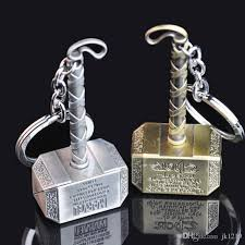 fashion movie keychain thor hammer thor thor alloy strap keychains