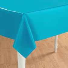 bermuda blue turquoise plastic tablecover birthdayexpress
