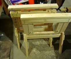 Build Adjustable Height Desk by Perfect Sawhorses Adjustable And Knock Down Design 6 Steps With