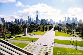 Melb Botanical Gardens by Shrine Of Remembrance Melbourne Australia Climb To The Very Top