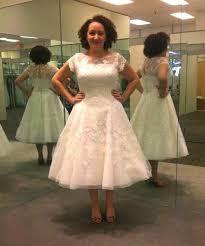 50 s style wedding dresses tea length lace wedding dress vintage wedding dress pin up wedding