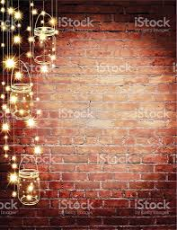 brick clips for christmas lights rustic old fashioned brick wall with elegant string lights