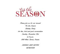 Free Christmas Party Invitation Wording - christmas free suggested wording by holiday geographics