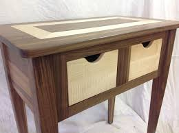 Black Walnut Table Top by Custom Made Black Walnut And Tiger Maple End Table By Moose Pond