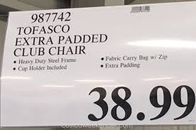 Tofasco Folding Chair by Tofasco Extra Padded Club Chair Costco Weekender