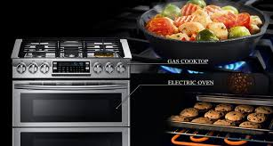 samsung cuisine ny58j9850ws gas range with dual fuel technology 5 8 cu ft