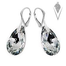 tear drop earrings devilla swarovski teardrop earrings devilla