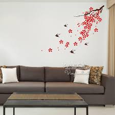 Modern Wall Stickers For Living Room Online Get Cheap Sakura Wall Decal Aliexpress Com Alibaba Group