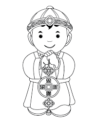 chinese coloring pages gift curiosity