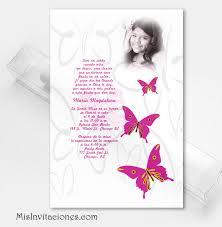 invitaciones para quinceanera invitacion en caja transparente con mariposas y foto