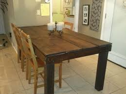 large dining table legs rustic table 4x4 legs do it yourself home projects from ana