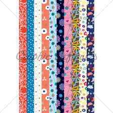 patterned ribbon colorful patterned ribbons gl stock images