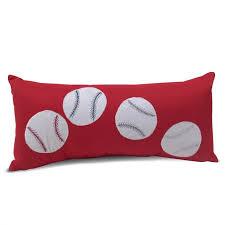 Lumbar Decorative Pillows Beco Home Sport Baseball Lumbar Decorative Pillow U0026 Reviews Wayfair